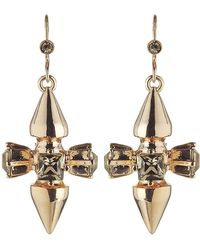 Mawi - Spike and Crystal Earrings - Lyst