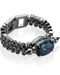 Mawi | Spike and Oval Crystal Bracelet | Lyst