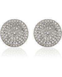 Michael Kors - Silver Pavã Stud Earrings - Lyst
