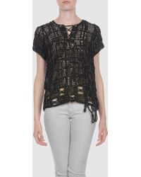Michaela Buerger Short Sleeve Sweater - Black