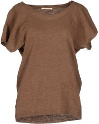 Paolo Pecora Short Sleeve Jumper - Brown
