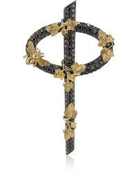 Theo Fennell - Black Diamond Secret Garden Phi Pendant - Lyst