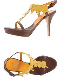 Alberta Ferretti Platform Sandals - Lyst