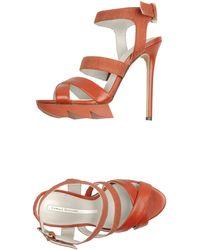 Camilla Skovgaard Platform Sandals - Orange