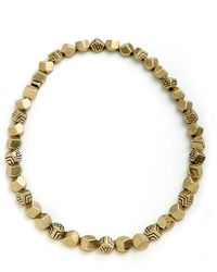 House Of Harlow 1960 Engraved Rocky Collar Necklace - Lyst
