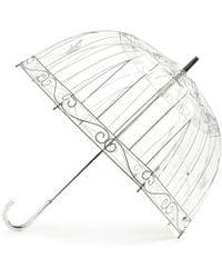 Lulu Guinness Transparent Birdcage Umbrella - Lyst
