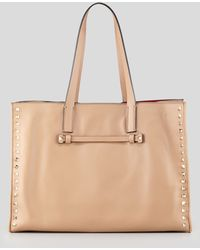 Valentino Rockstud Shopping Tote Bag - Lyst