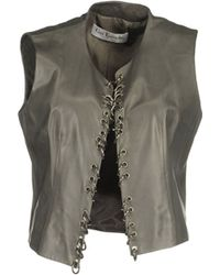 Guy Laroche Leather Outerwear - Gray
