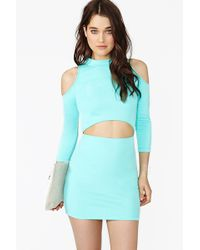Nasty Gal Watch and Learn Dress Mint - Lyst
