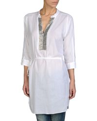 Armani Jeans Cotton Voile Caftan with Sequins - Lyst