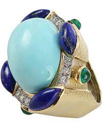 David Webb - Turquoise Ring - Lyst