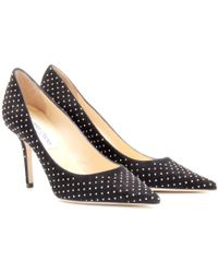 Jimmy Choo Agnes Studded Suede Pumps - Lyst