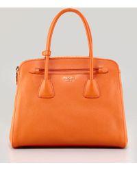 Prada - Saffiano Cuir Large Double Zip Tote Bag - Lyst