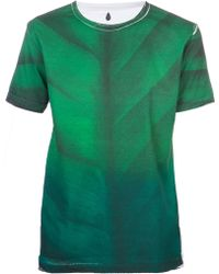 Sangue - Leaf Print Tshirt - Lyst