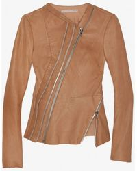 Willow | Zippered Leather Peplum Jacket | Lyst