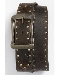 Bed Stu | Anxious Studded Leather Belt | Lyst