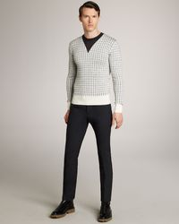 Burberry Prorsum Skinny-fit Wool Trousers - Lyst