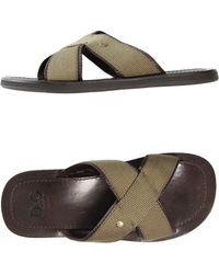 D&G Brown Clog Sandals - Lyst