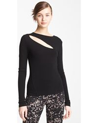Donna Karan New York Collection Slash Jersey Top - Lyst