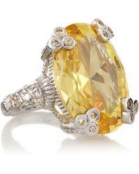 Judith Ripka Oval Olivia Ring Size 6 - Lyst