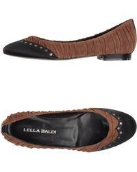 Lella Baldi Ballet Flats - Brown