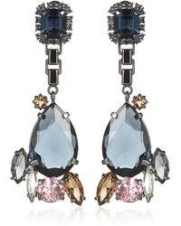 Mawi - Teardrop Crystal Earrings - Lyst