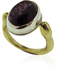 Maya Magal Black Small Druzy Ring - Lyst