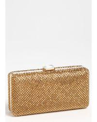 Sondra Roberts Crystal Mesh Box Clutch - Lyst