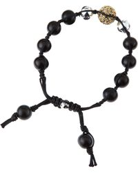 Tai - Mix Bead Drawstring Bracelet Black - Lyst