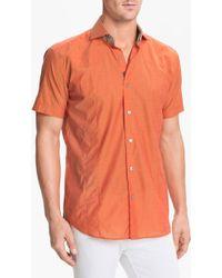 Bogosse Mini Aramis 14 Short Sleeve Trim Fit Sport Shirt - Lyst
