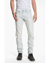 Diesel Thanaz Slim Straight Leg Jeans Blue Stripe - Lyst