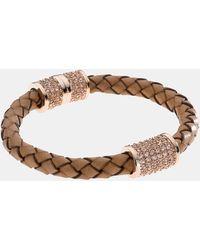 MICHAEL Michael Kors Michael Kors Skorpios Wide Leather Rope Bracelet - Lyst