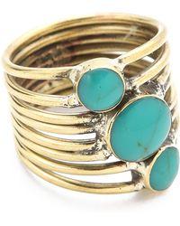 Sunahara Turquoise Stone Sonic Ring - Blue