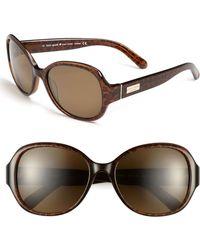 Kate Spade 55mm Polarized Sunglasses - Lyst