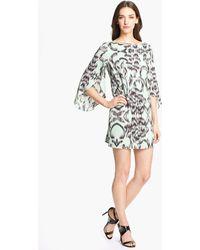 Milly Stretch Silk Shift Dress - Lyst