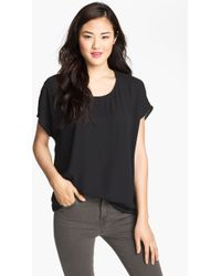 Pleione Scoop Neck Short Sleeve Blouse - Lyst