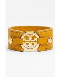 Tory Burch Leather Bracelet - Lyst