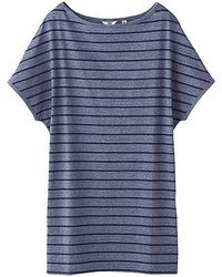 Uniqlo Cotton Striped Short Sleeve Tunic - Lyst