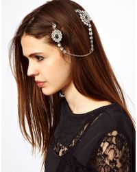 ASOS Double Jewel Hair Brooches - Metallic