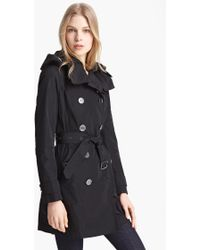 Burberry Brit 'Balmoral' Packable Trench, Black - Lyst