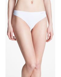 Calvin Klein White Invisibles Thong - Lyst