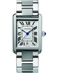 Cartier Stainless Steel Extralarge Bracelet Watch - Lyst