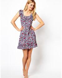 Freya Swing Frilled Dress - Multicolor