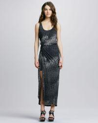 Halston Heritage Sleeveless Dress - Lyst