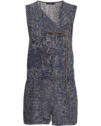 H&M Patterned Jumpsuit black - Lyst