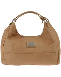 Le Solim Large Leather Bag - Natural