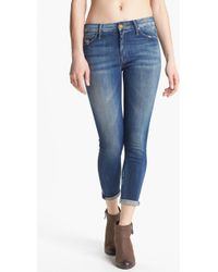 Mother The Looker Crop Skinny Jeans Tequila Truth - Lyst