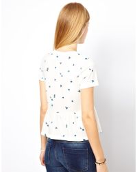NW3 by Hobbs Nw3 Tiny Fan Print Tee - White