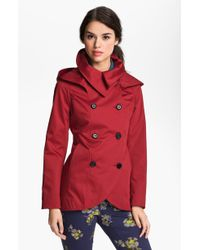 SOIA & KYO Soïa Kyo Hooded Double Breasted Jacket - Lyst
