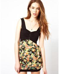 Wal-G Dress With Oranges And Lemons Print - Black